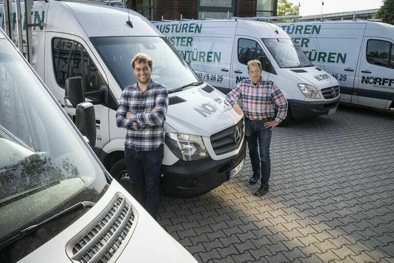Marc und Ralf Wiek, Inhaber des Montagebauers Norff GmbH