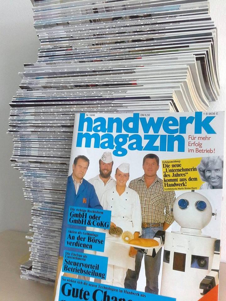 Titelbilder aus 30 Jahren handwerk magazin