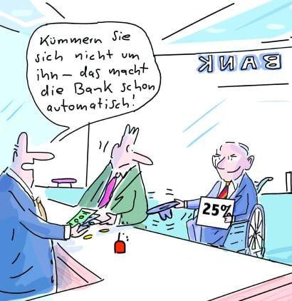 Weniger Zinsen fürs Finanzamt