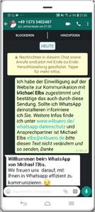 WhatsApp-Einwilligung 4