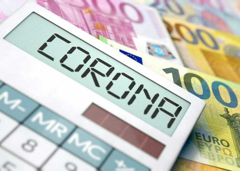 Corona-Fördermittel, Coronavirus und Euro