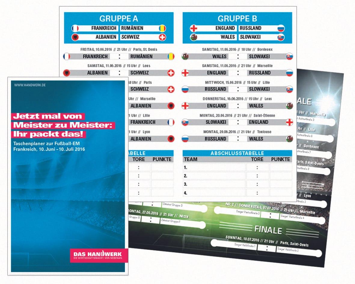 Marketing: Motivieren mit Fußball-EM und werben mit Handball-Turnier