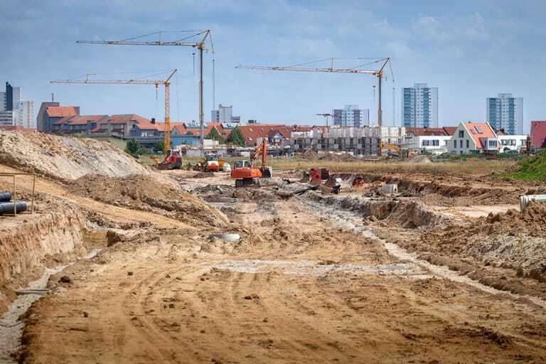 Bau, Ausschreibung, Grundstück