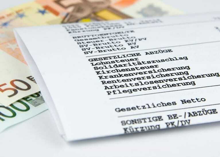 Gehaltsabrechnung, Lohnabrechnung, Lohnzettel