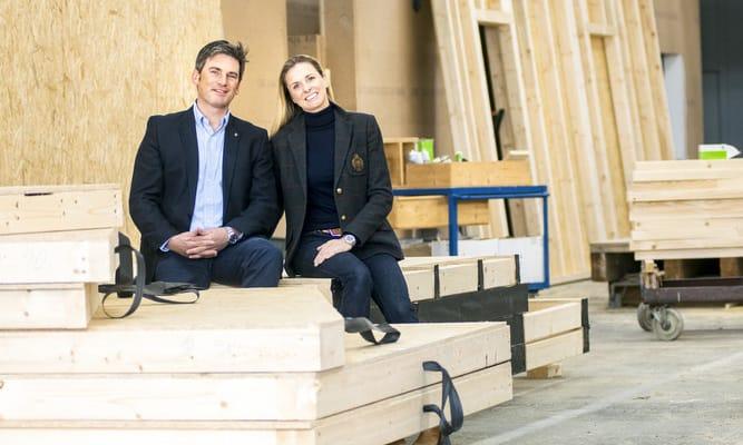 Stefanie und Christian Hierl, Inhaber von Jura Holzbau