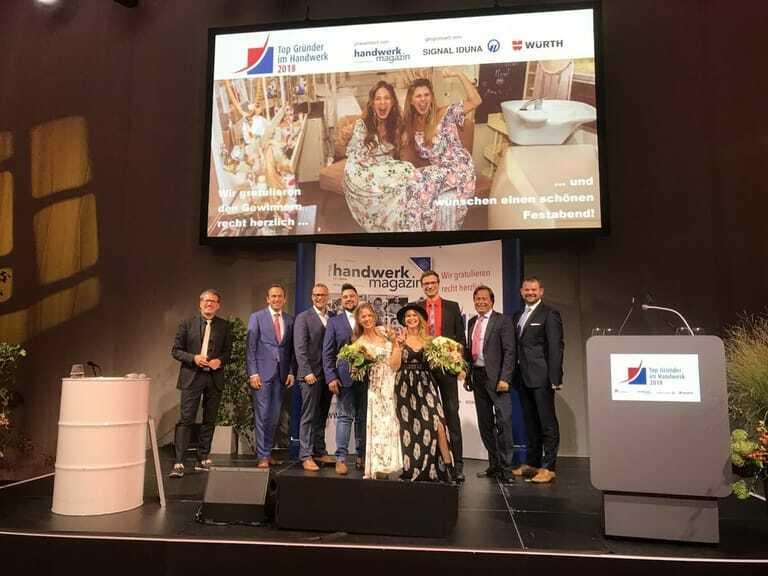 Siegerbild Top Gründer im Handwerk 2018
