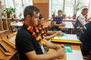 Zurück auf die Schulbank heißt es heute für die Teilnehmer der WorldSkills 2019 beim Projekt One School - One Country.