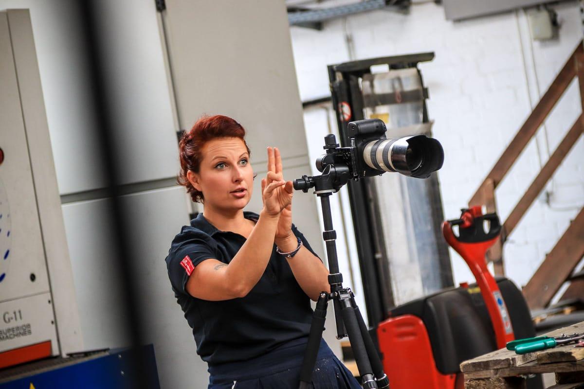 Geflüchtete mit neuer Perspektive: Shooting in Hannover