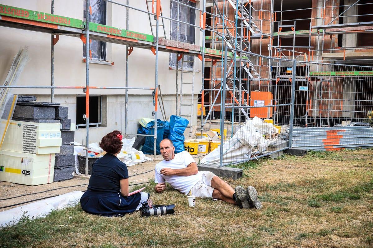 Geflüchtete mit neuer Perspektive: Shooting in Lagesbüttel
