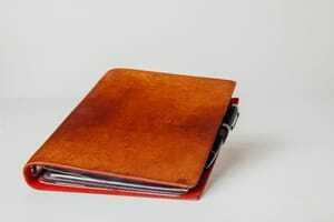 handgeprägtes Notizbuch