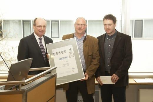 Preisverleihung für Andreas Kempa und Wolfgang Beu (rechts).