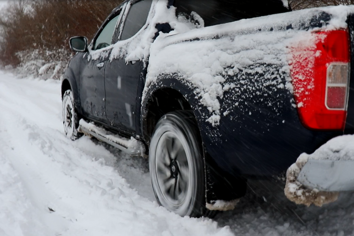 Nissan Navara, Pick-up, Winter, Schnee