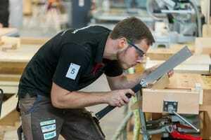 So sieht es aus, wenn Bauschreiner Florian Meigel richtig Gas gibt.