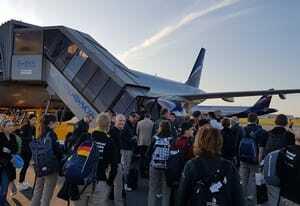 Für Team Germany geht es heute mit dem Flugzeug zurück nach Deutschland.
