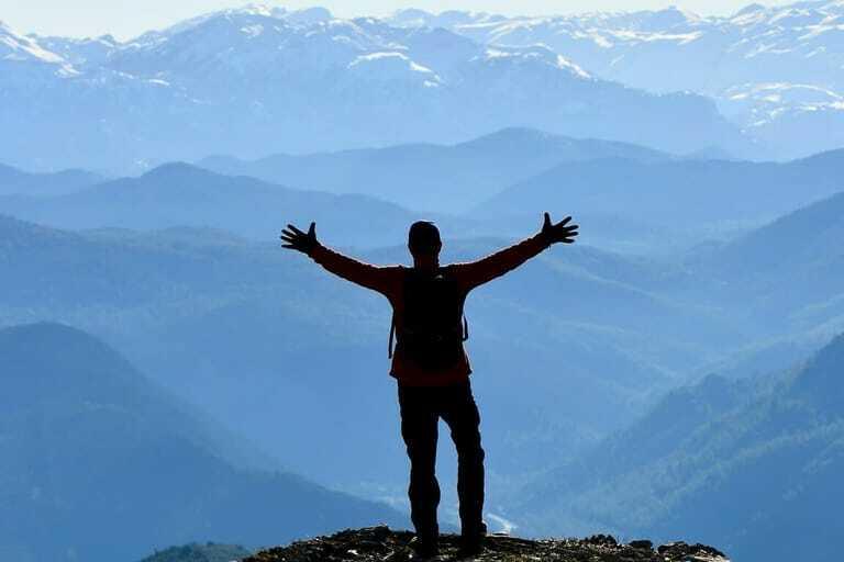 Ziele erreichen, Bergsteigen