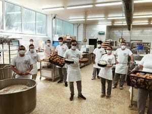 Masken-Diskussion Bäckerei Wildbadmühle