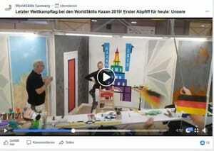Es ist geschafft! Malerin Jessica Jörges hat ihre Weltmeisterschaft beendet.