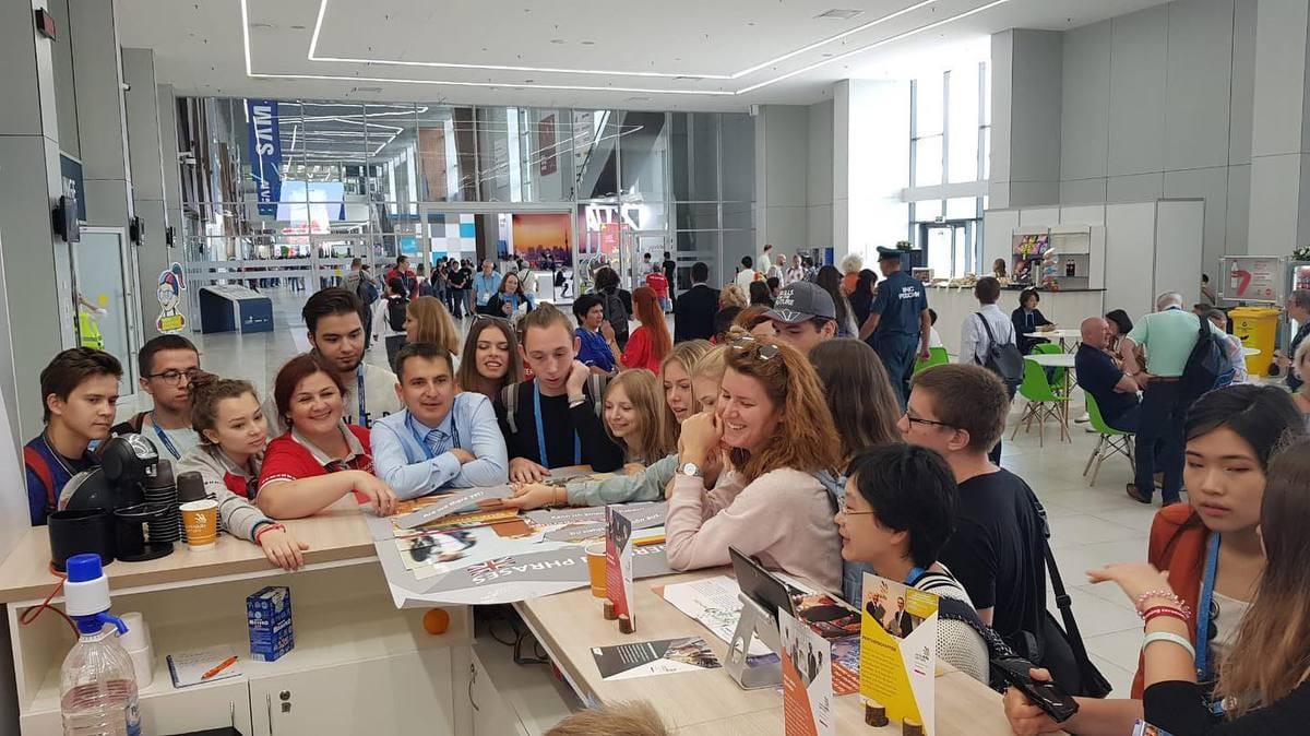 Am Messestand von WorldSkills Germany können Besucher etwas gewinnen.