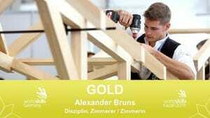 Wahnsinn! Zimmerer Alexander Bruns holt sich die  Goldmedaille.