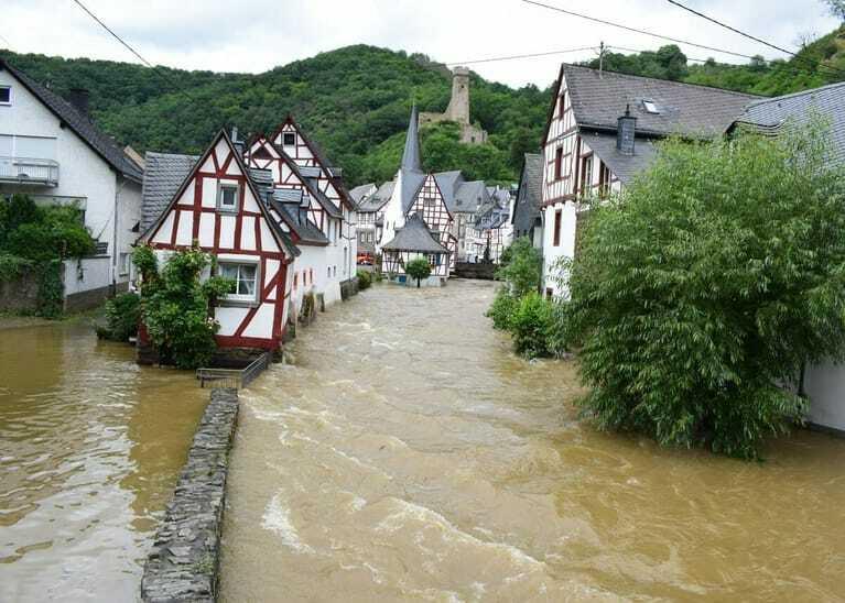 Hochwasser in Monreal 2021