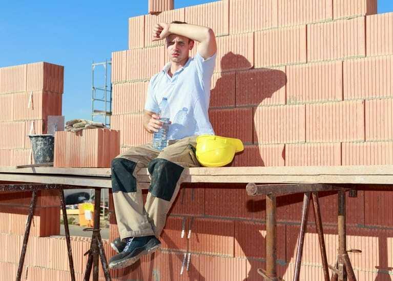 Sommerhitze, Bau, Handwerker