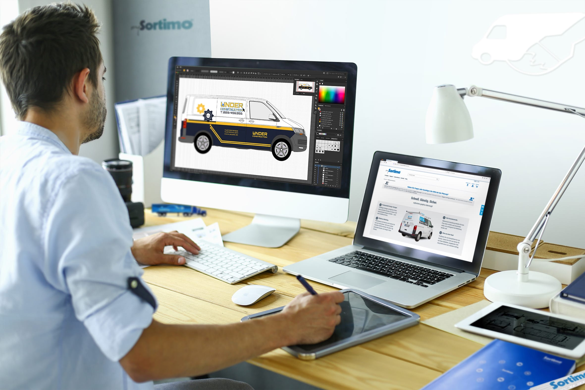 Fahrzeugbeklebung: Sortimo bietet Branding vom Profi